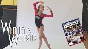 Whitney Models for Inside Gymnastics Magazine Leotard Photo Shoot. Whitney Bjerken
