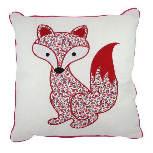 Fox Appliqué Cushion