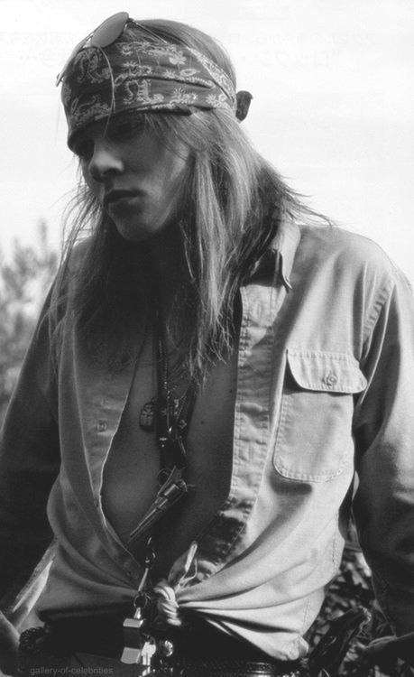 Axl Rose. You had to love the guy back in the days, man candy.