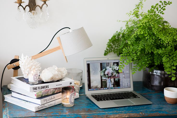 Home office of Blush Floral Stylist, Kelly Karam