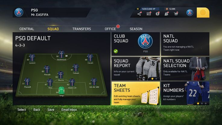 Teamsheet - FIFA 15 by EA Sports