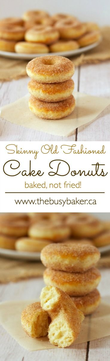 The Busy Baker: Old Fashioned Baked Cake Donuts