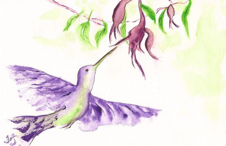 watercolour by Faye Blondin