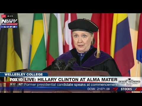 Hot Off The Presses! Read All About it! Hillary Clinton Commencement Speech at Wellesley College. (FNN)