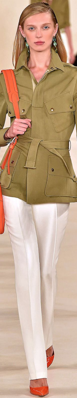 The WWII paratrooper look - only cuter    LOOKandLOVEwithLOLO~ RALPH LAUREN SPRING 2015 RTW
