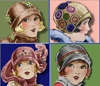 Hats: 1920 S, 1920S Patterns, 1920S Cloche, 1920S Fashion, Sweet 1920S, Vintage Hats, Cloche Hats, 1920S Hats, Hats Hats