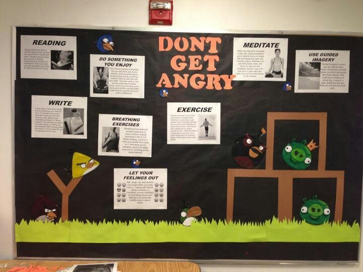Bulletin Board With Strategies For Self Discipline Anger