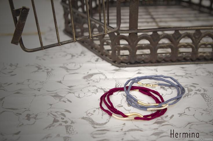 silk and gold triple wrap bracelets