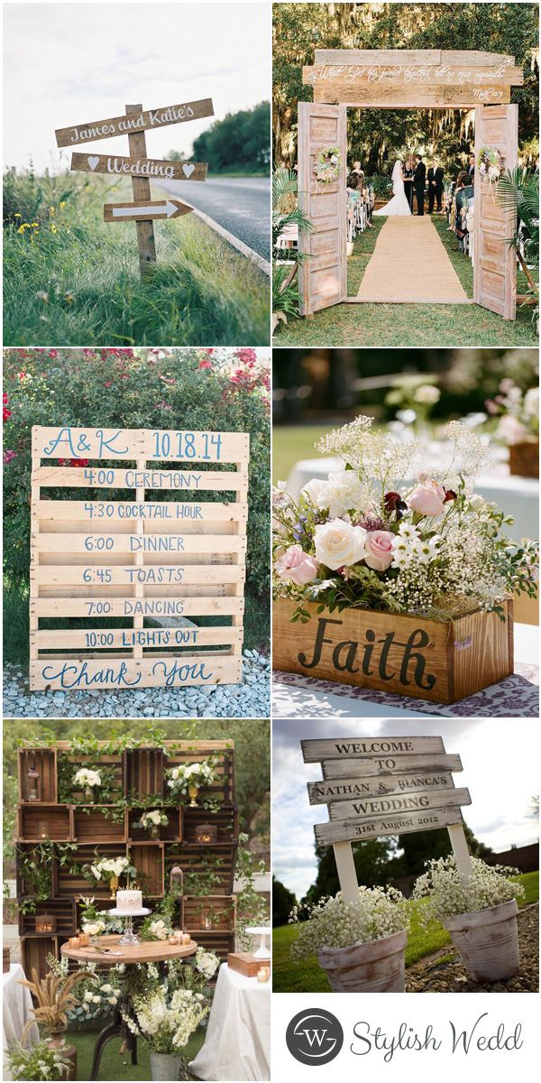 Wood Pallet Inspired Rustic Country Outdoor Wedding