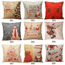 Hot Christmas Throw Home Decorative Pillows Pillow Cover Cotton Linen Pillowcase Cover FEN#(China (Mainland))