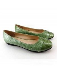 Baby Mystic Sea Serpent - Women's green python ballet flats $109.00 #shoeenvy #shoes #fashion #instalove #pretty #ethical #glamorous