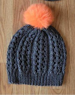 Lace Rib Hat pattern by Universal yarn Design Team