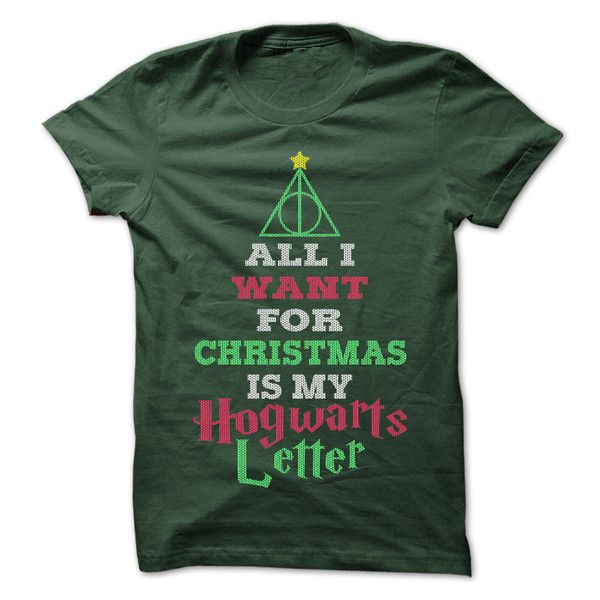 All I want for Christmas is my Hogwarts Letter! Perfect christmas shirt, click to see all our great christmas shirts!