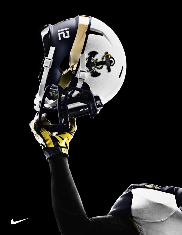 Nike Navy Football Helmet so so bad ass #NavyFootball