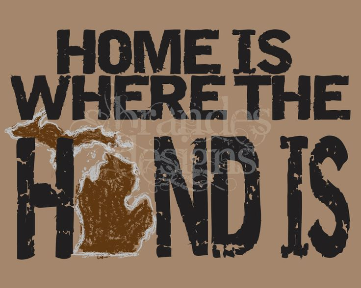8x10 Michigan Print Home Is Where The Hand Is by SBrandesDesigns, $20.00