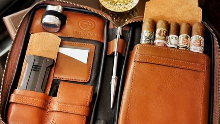Review Peter James Leather Aficionado Case Cigar Toy