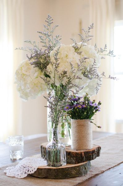 Beautiful and #rustic centerpiece {Kirsten Smith Photography}