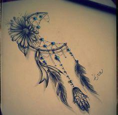 Resultado de imagem para apanhador de sonhos + lua dentro tatuagens para homens   – Kunst✍Zeichnungen✏ Tattoos und co…