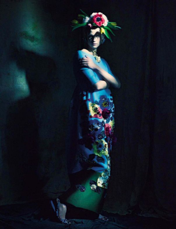 'In The Couture Mood'  Saskia de Brauw by Paolo Roversi for Vogue Italia ( March 2014)