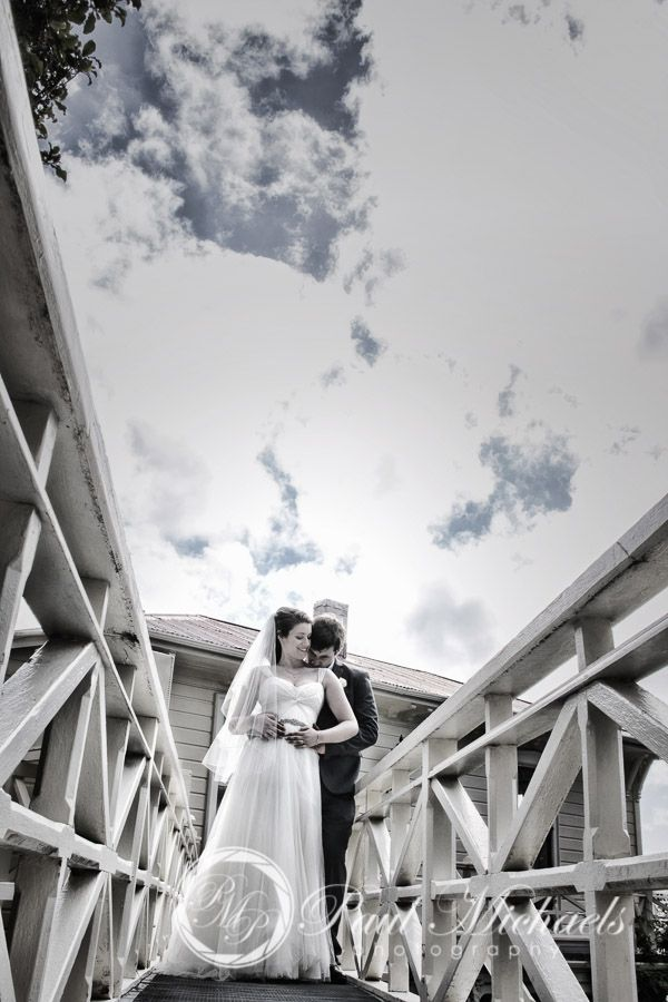 White bridge at Gear Homestead. Wellington wedding venue. Photography by PaulMichaels http://www.paulmichaels.co.nz/