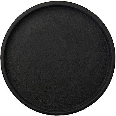 Concrete Round Tray, Black
