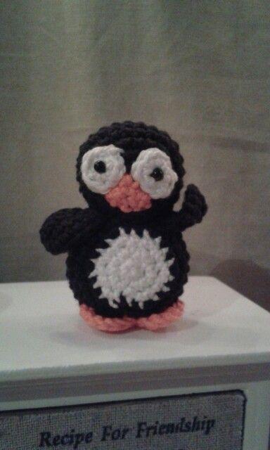 Grappige pinguin gehaakt :)