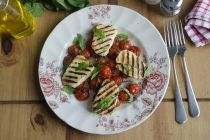crispy-halloumi-with-cooked-cherry-tomatoes