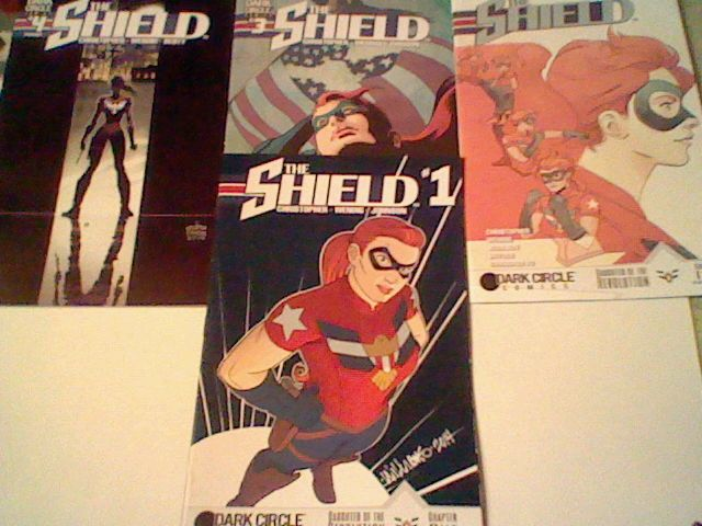 The Shield #1-4  Archie/Dark Circle Comics complete set ,2016, Mighty Crusaders