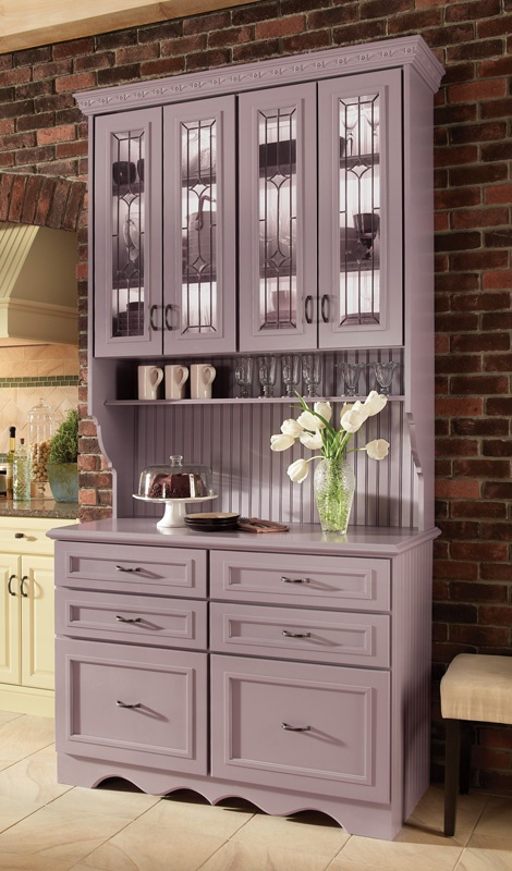 Medallion Cabinetry Custom Hutch In A Fully Painted Finish Love