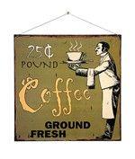 Cartello metallo vintage COFFEE