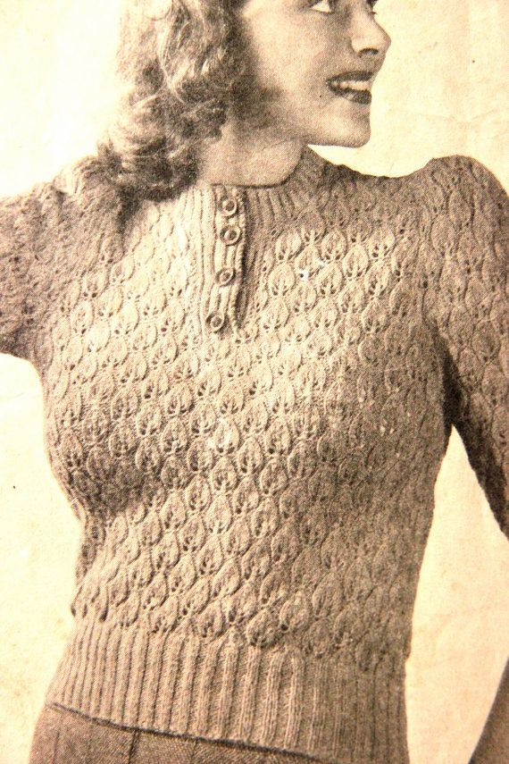 The 113 best Vanessa Loves Vintage etsy store knitting patterns ...