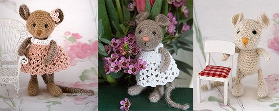 Tiny pink forest mouse – pattern in English