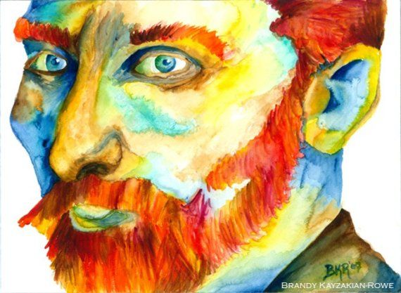 16 best watercolors van gogh images on Pinterest | Watercolors, Vans ...