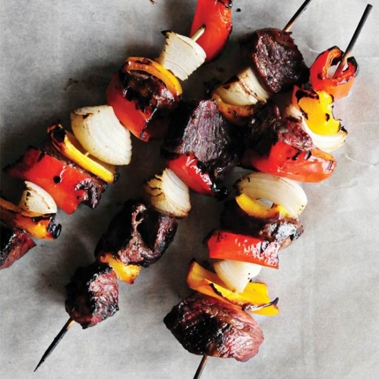 Spicy Beef Kabobs!! YUM! I will be making this again. Such a nice change from the usual soy sauce-based marinades