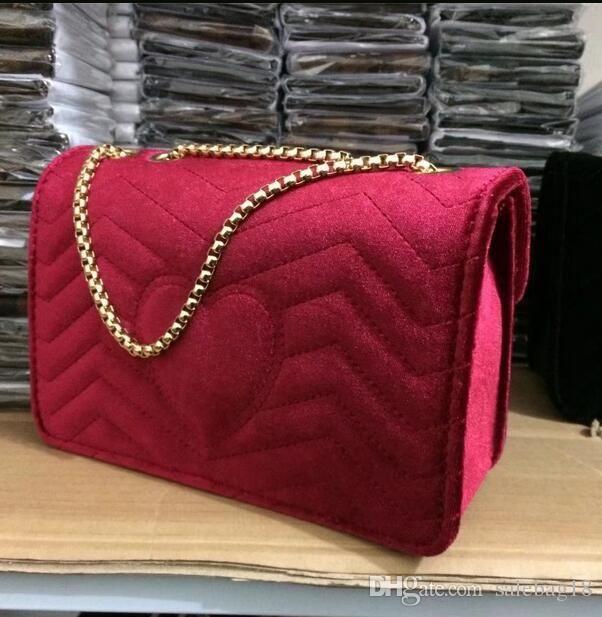Sale New 2018 Marmont Velvet Bag Handbags Brand Name Shoulder Bag Chain Messenger Bag Fashion Handbags Italy Luxury Handbags Hot Rosetti Handbags Name Brand Purses From Salebag18, $23.74| Dhgate.Com