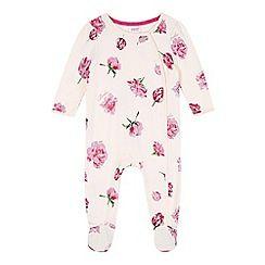 Baker by Ted Baker - Babies pink tulip print sleepsuit  debenhams.com