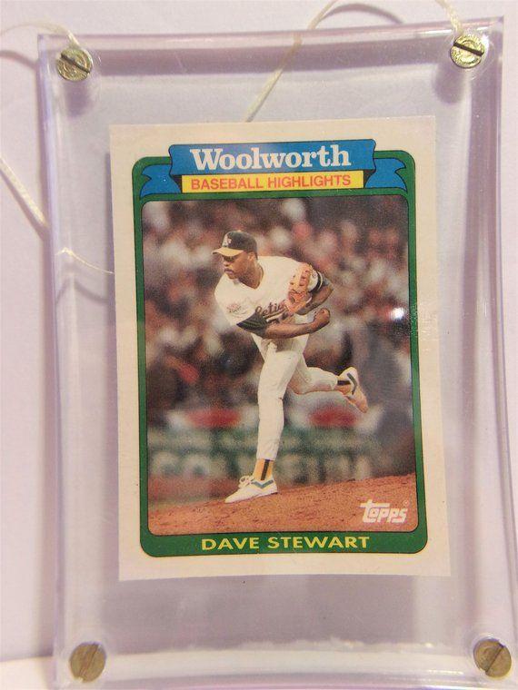 Woolworths 1989 Athletics 25 1989 Dave Stewart Baseball Card