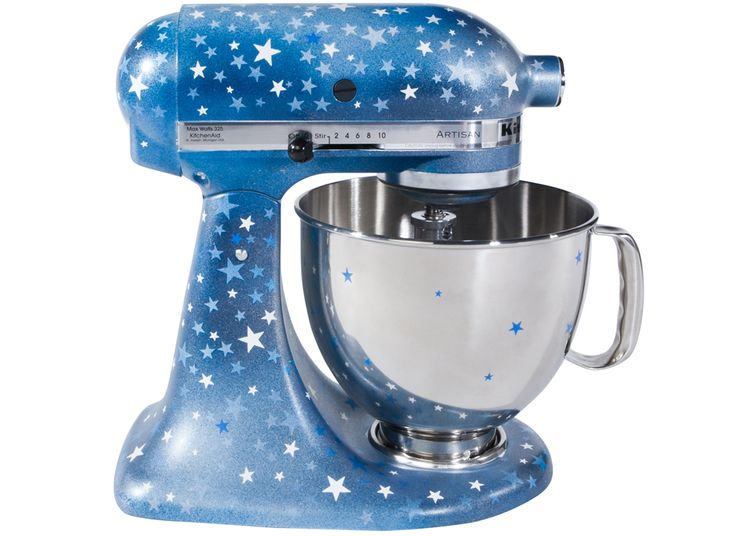 57 best images about kitchenaid love on pinterest cow print whip it and painted appliances - Decorated kitchenaid mixer ...