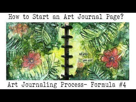 Art Journal for Beginners | How to do  Art Journaling ? | Mixed Media Formula #4 - YouTube