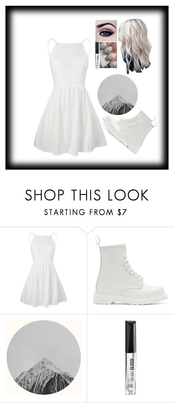 """Snow mountain outfit"" by carry-senpai ❤ liked on Polyvore featuring Dr. Martens and Rimmel"