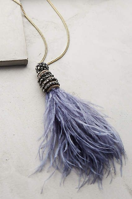 Fluttered Feather Pendant Necklace - anthropologie.com