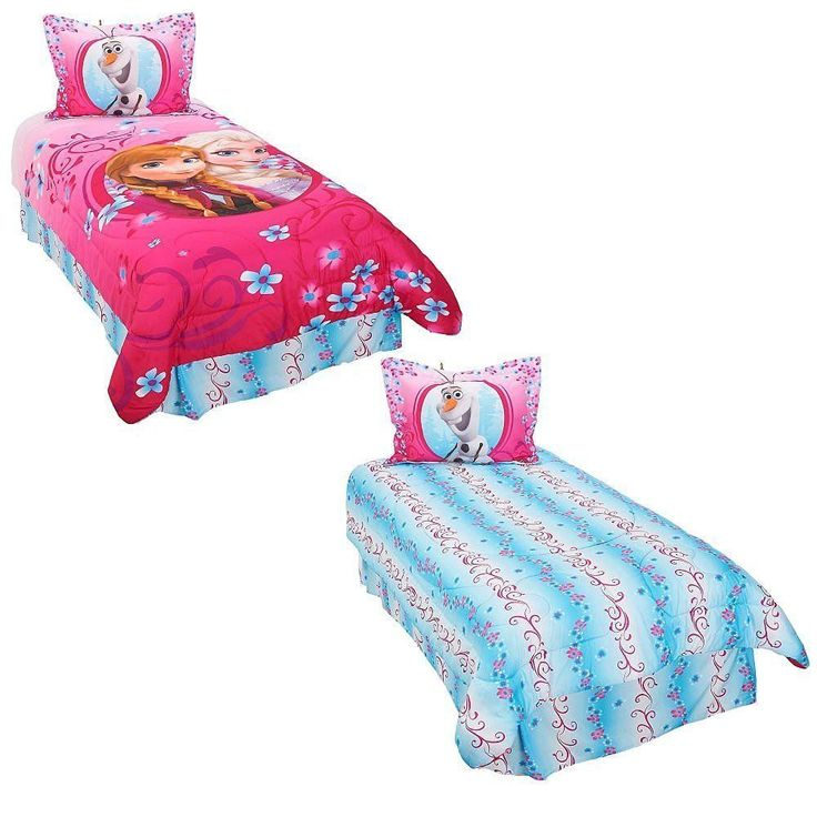 Disney Frozen Coronation Day 3 Piece Twin Comforter Set, Pink/Blue //Price: $32.26 & FREE Shipping //     #hashtag4