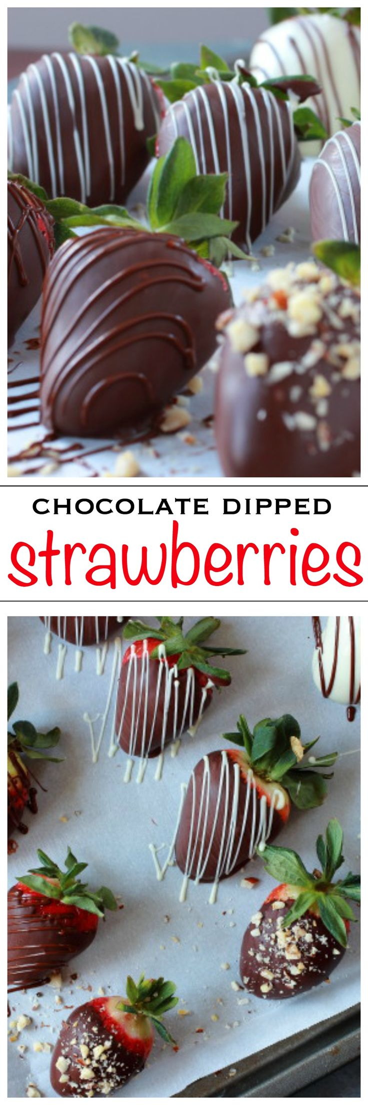 Chocolate Dipped Strawberries. Perfect for your sweetheart on Valentine's Day | Foodness Gracious