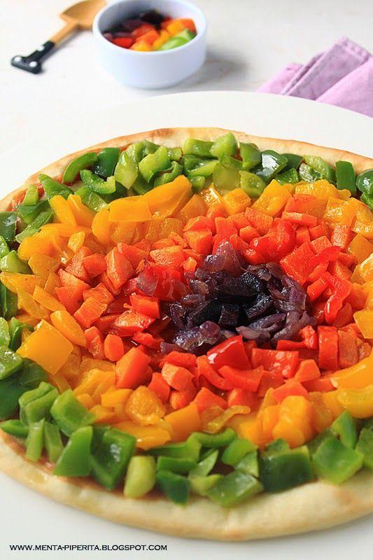 #Pizza arcobaleno con #verdure estive #food #colorfood