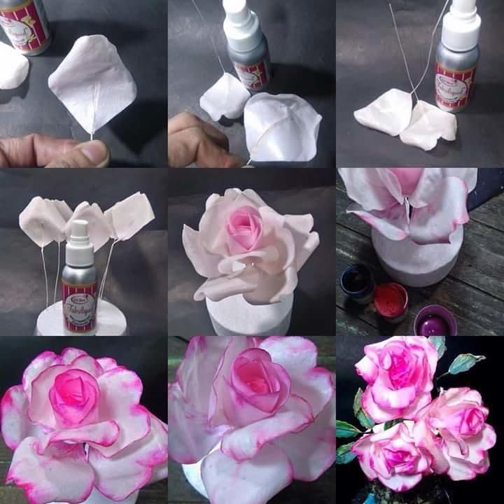 Wafer paper roses  by Daniel Guiriba