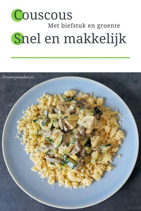 Recept | Couscous met biefstuk en groente 490 kcal p.p.