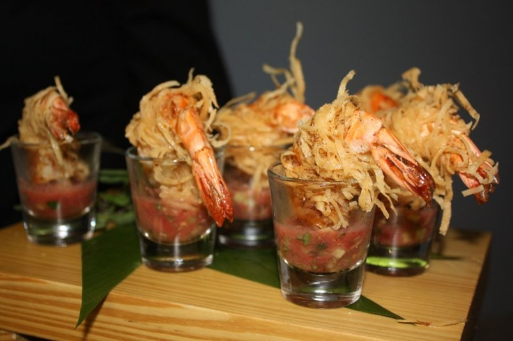 Shot Glass Shrimp Ceviche Crab Cocktail with Avocado, Mango & Lime Vinaigrette in a Shot Glass   The Wild Thyme Company