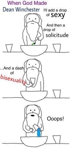 tumblr: supernaturaldestielislove       this was my first edit ever  #supernatural #deanwinchester #bisexual #destiel