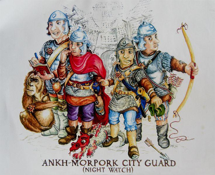 Discworld illustrations - The Night Watch.