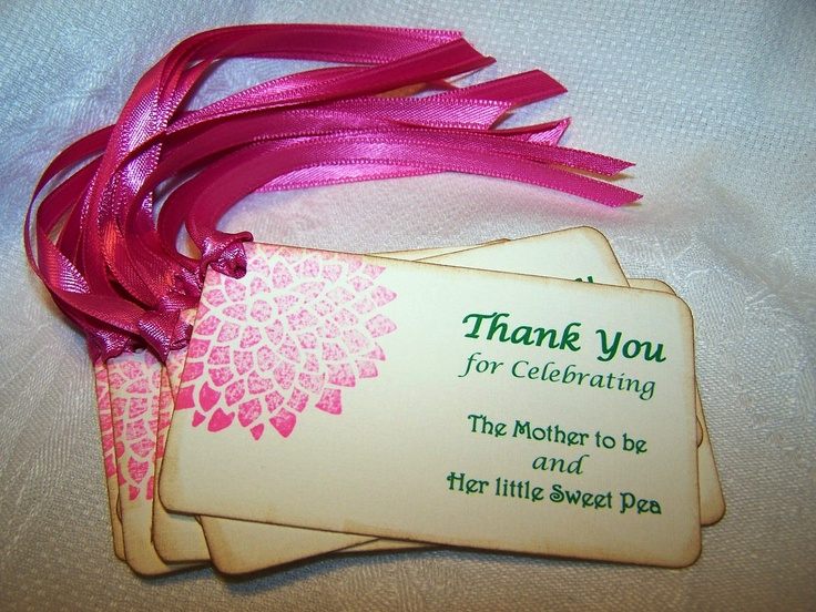 Baby Gift Wording Ideas : Sweet pea baby shower thank you gift tags favors labels